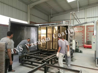 Ceramic Tile Golden Chrome Physical Vapor Deposition System